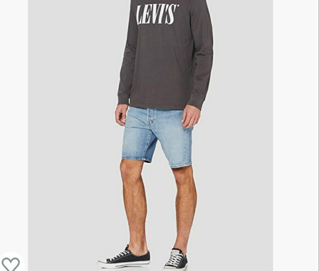 Levi's 501 Hemmed Short Denim Shorts para Hombre 27w