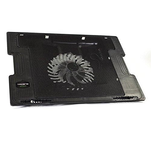 Tacens Anima ANBC2, Base Refrigeración Portátiles hasta 17'', Ventilador 14cm, Negro