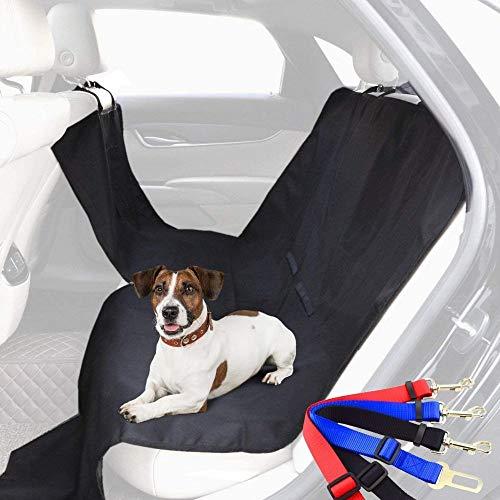Pack funda coche + enganche cinturón - correa o arnés del perro - gato