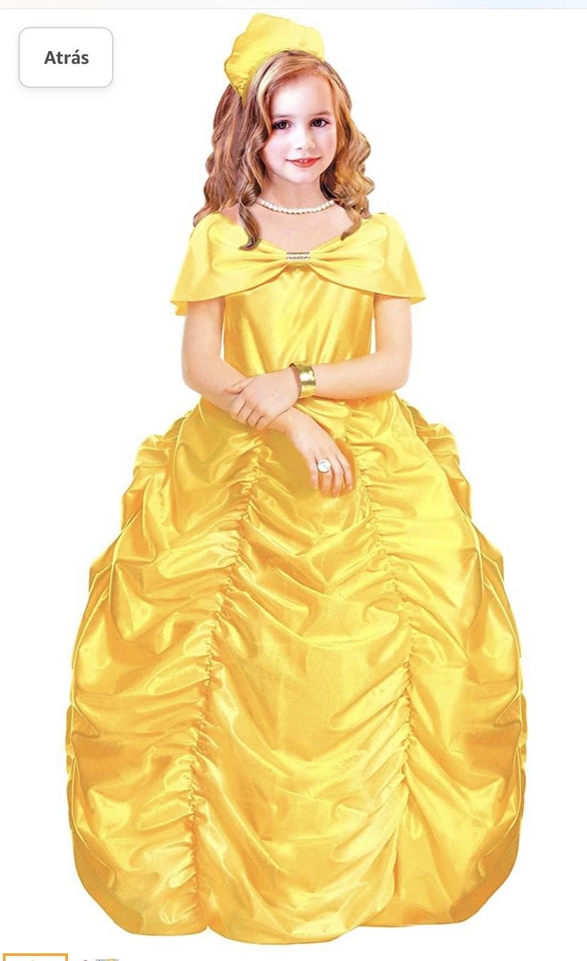 Disfraz de princesa reina de belleza (8/10 años - 140 cm)