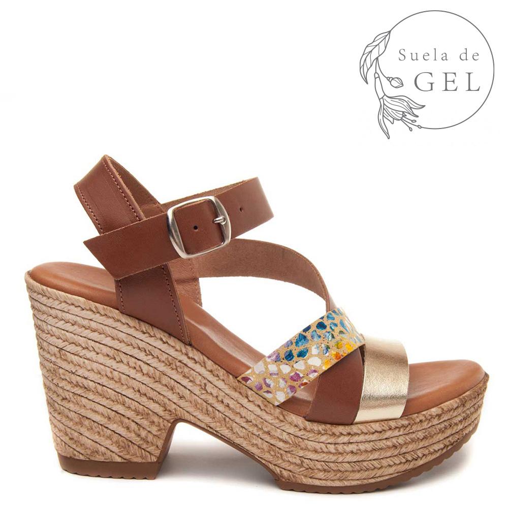 sandalias plataforma mujer de piel talla 41