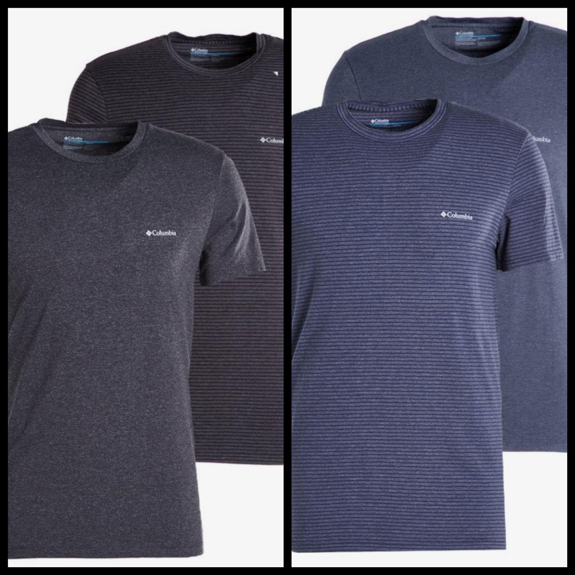 Pack 2 Camisetas Columbia para Hombre (2 colores). Tallas desde S a XXL