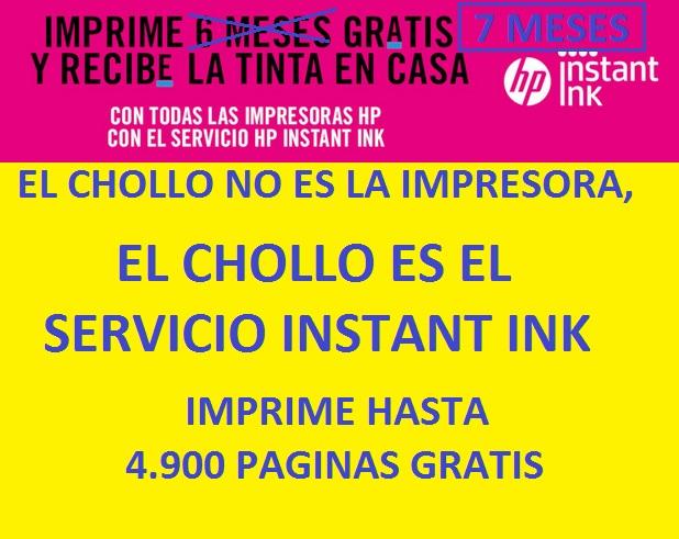 Imprime gratis hasta 4900 páginas comprando una impresora con HP INSTANT INK