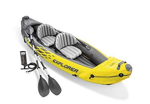 Kayak hinchable Explorer K2 con 2 remos 312 x 91 x 51cm