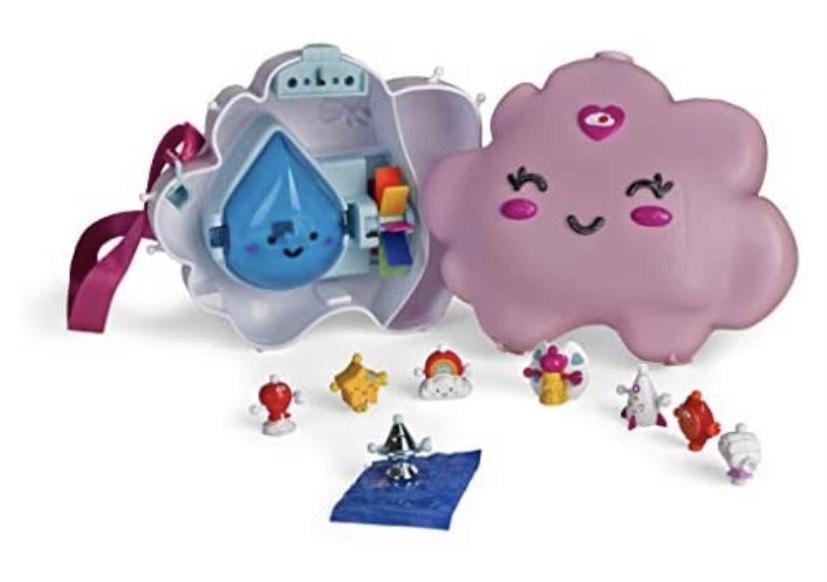Ziwies - Bolso Nube con asa y 8 figuritas coleccionables
