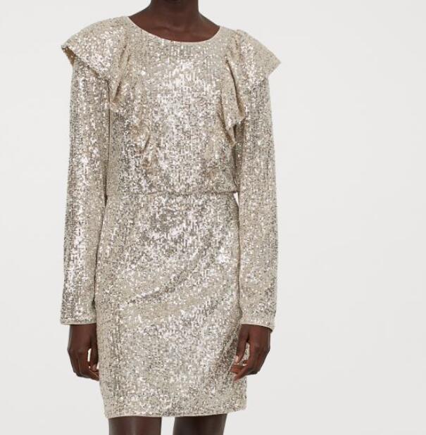 Vestido de lentejuelas H&M