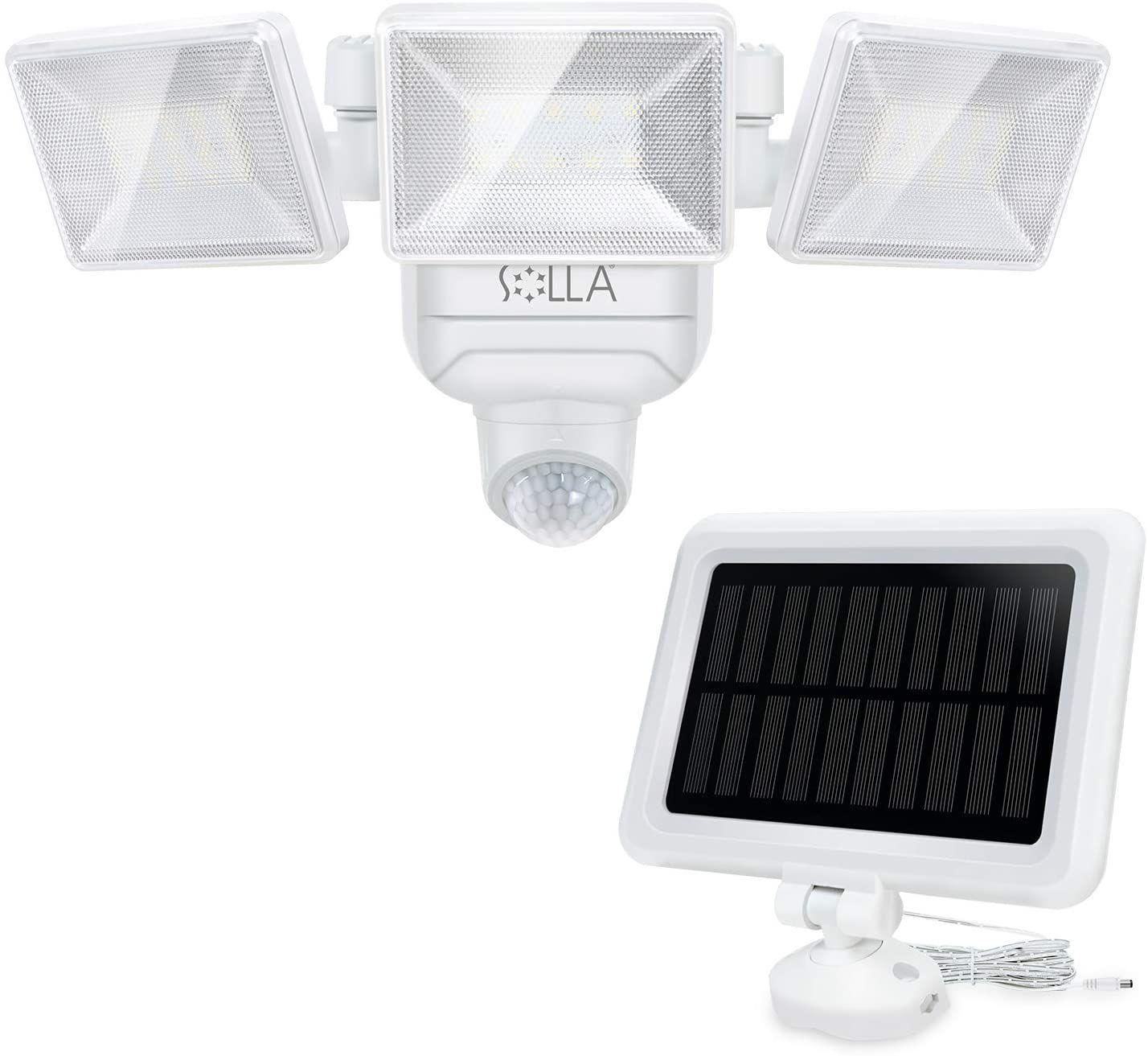 Foco Solar Exterior Regulable Solla Con Sensor De Movimiento