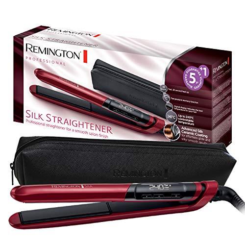 Remington S9600 Silk - Plancha de Pelo, Cerámica, Digital