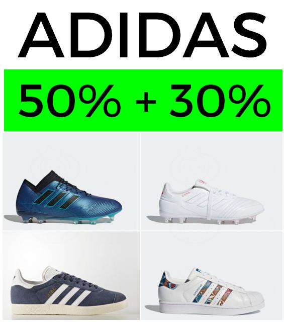 Liquidación ADIDAS 50% + 30% EXTRA