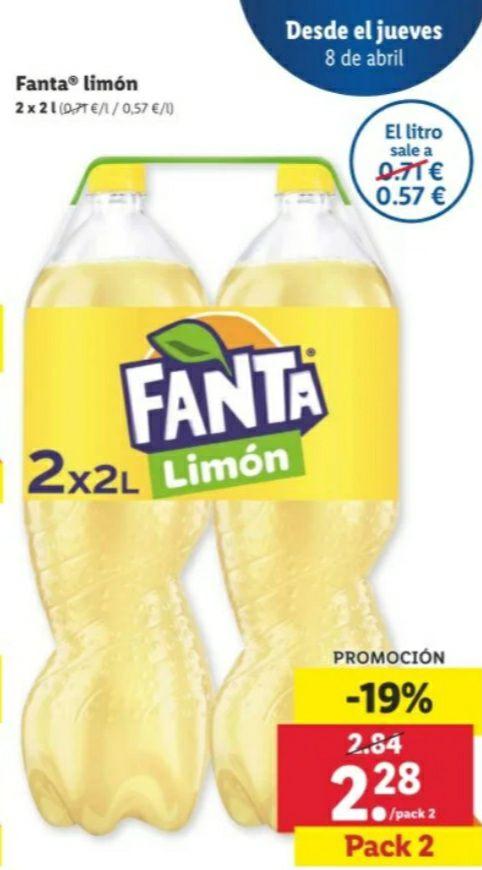 Fanta de Limón -19% Lidl