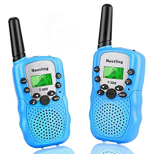 Set x2 Walkie Talkie Nestling para niños con 8 canales y pantalla LCD