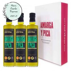 Llevate 3 botellas al precio de 2 aceite de oliva virgen EXTRA Amarga y Pica