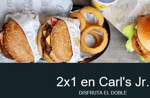 2x1 en Carl's Jr.