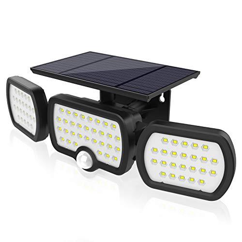 Luz Solar Exterior 3 Cabezas, Romwish 80 LED