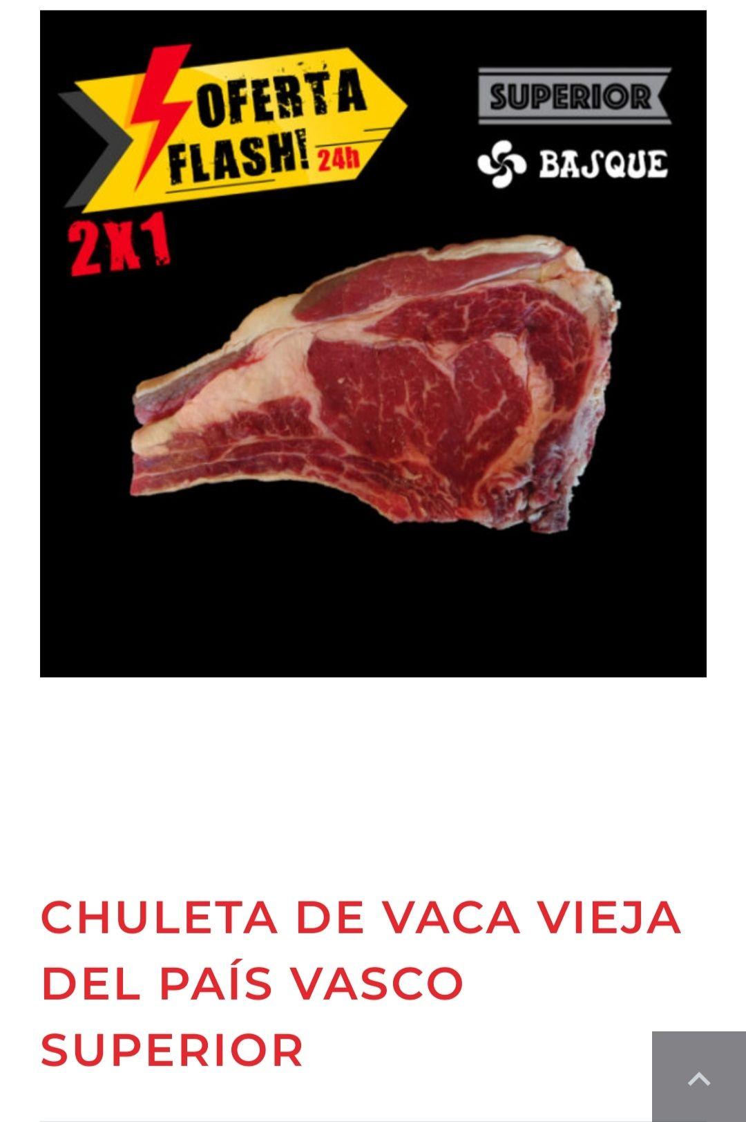 Chuletón de vaca vieja del País Vasco