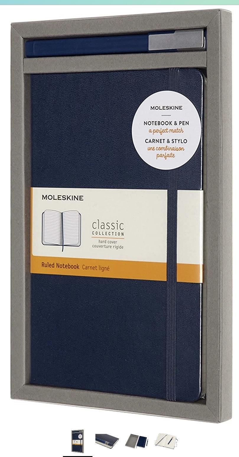 Moleskine - Set de Escritura con Cuaderno y Bolígrafo Classic Plus