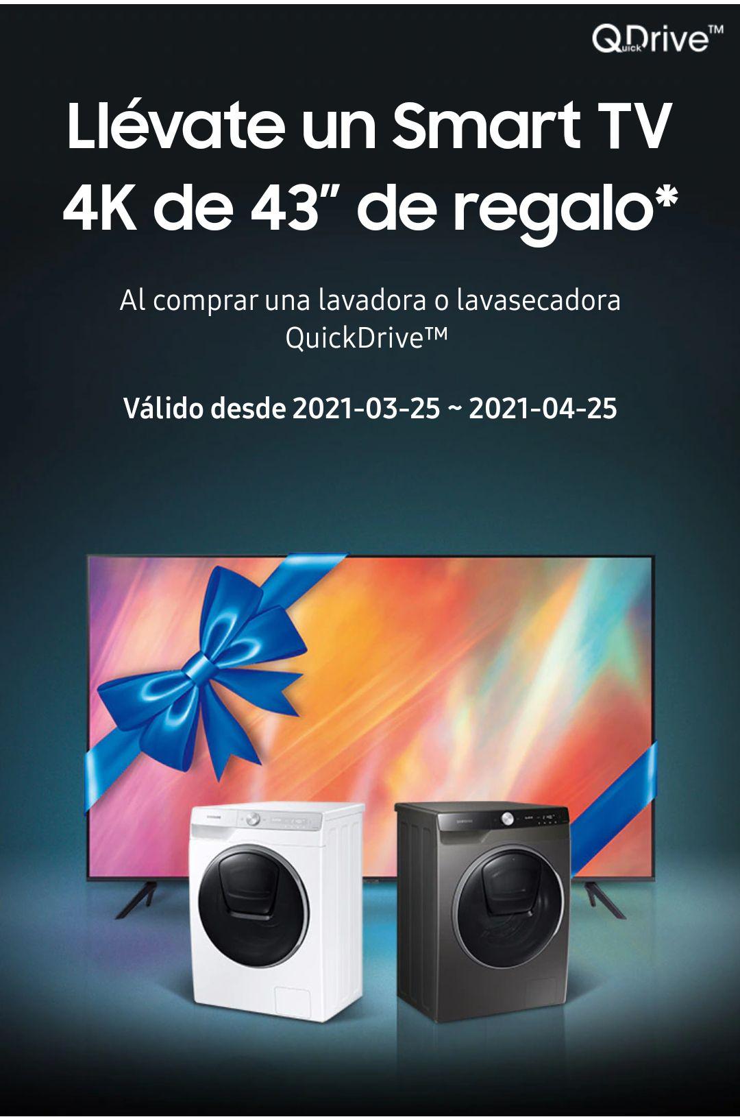 """Lavadora QuickDrive™ Serie 9 9kg + smart TV 4k 43"""""""