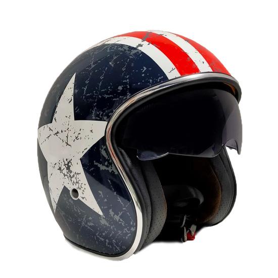 Casco de moto star vintage