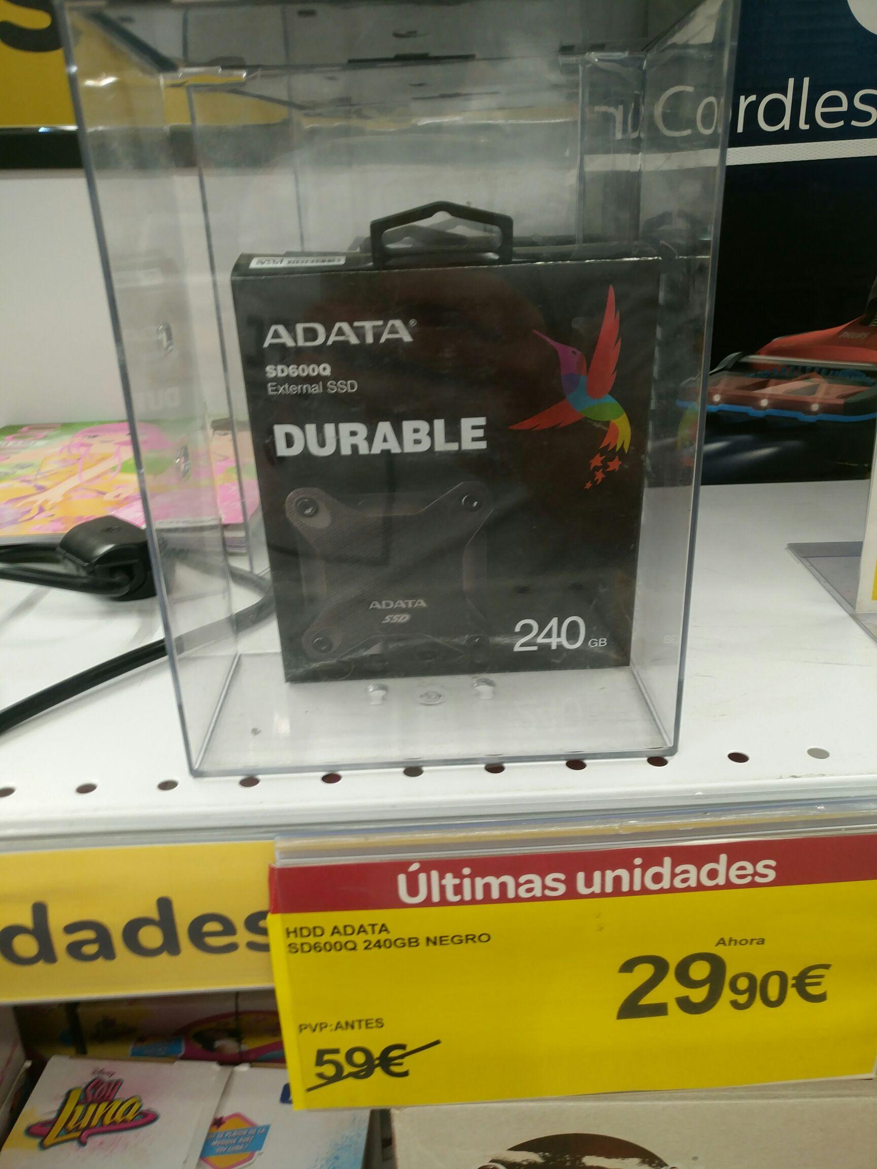 Disco duro ssd adata 240GB SD600Q