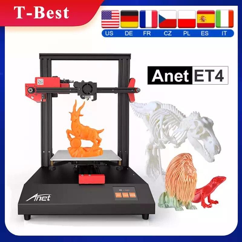 Anet-Impresora 3D de autonivelación automática modelo ET4, dispositivo de impresión de 220x220x250mm
