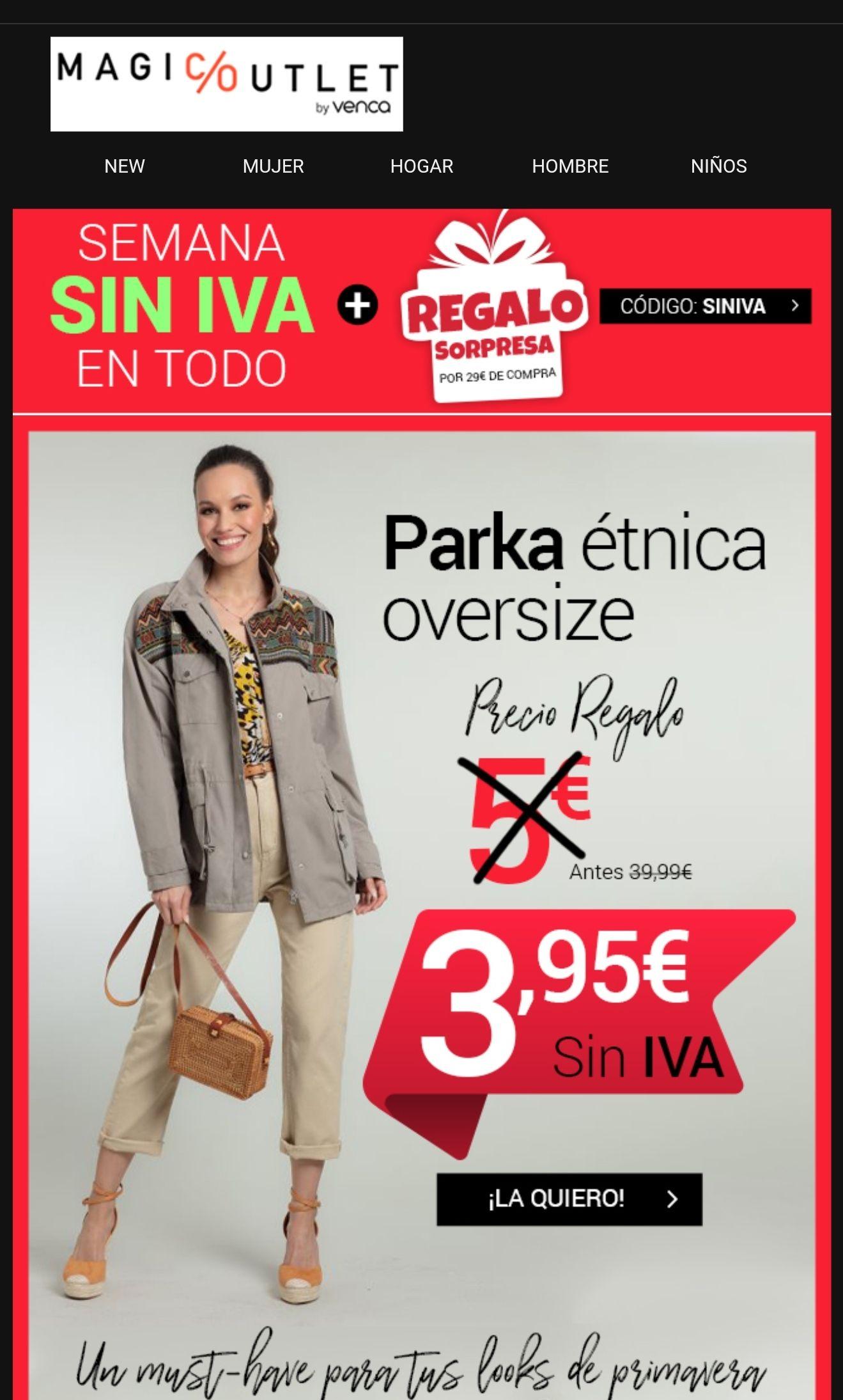 Parka etnica oversize + regalo sorpresa x 29€ de compra