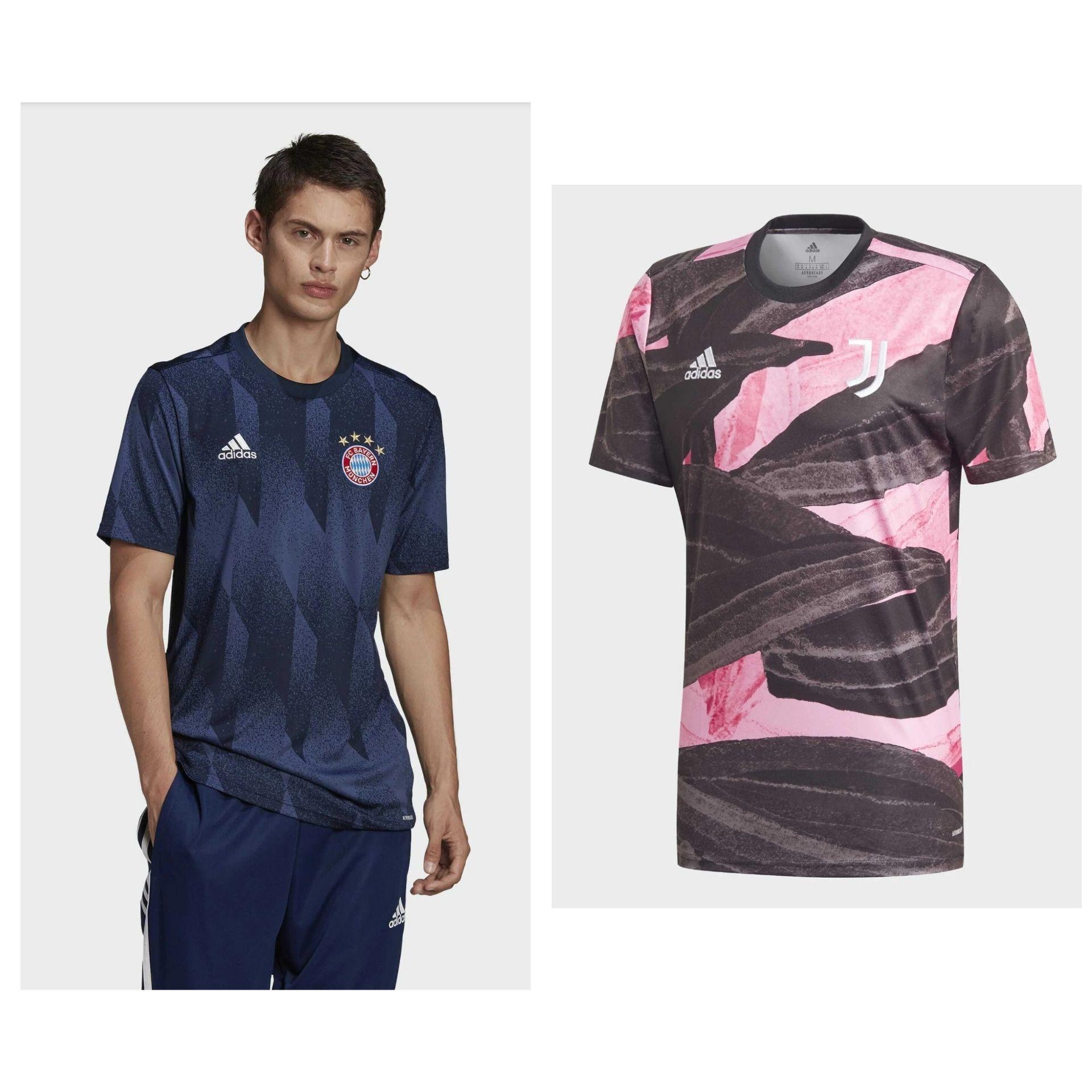 Camisetas Calentamiento Bayern de Múnich o Juventus 20/21