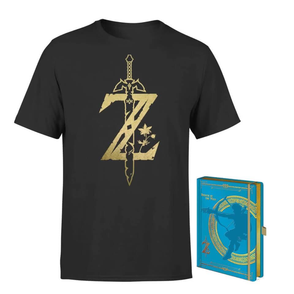 Pack Camiseta y Cuaderno Zelda