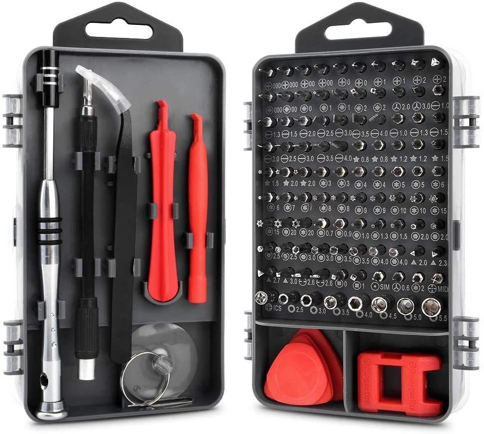 Kit 112 piezas destornillador precisión y reparación de aparatillos