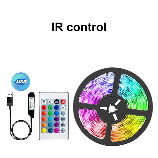 Tira Led RGB 1m USB con mando