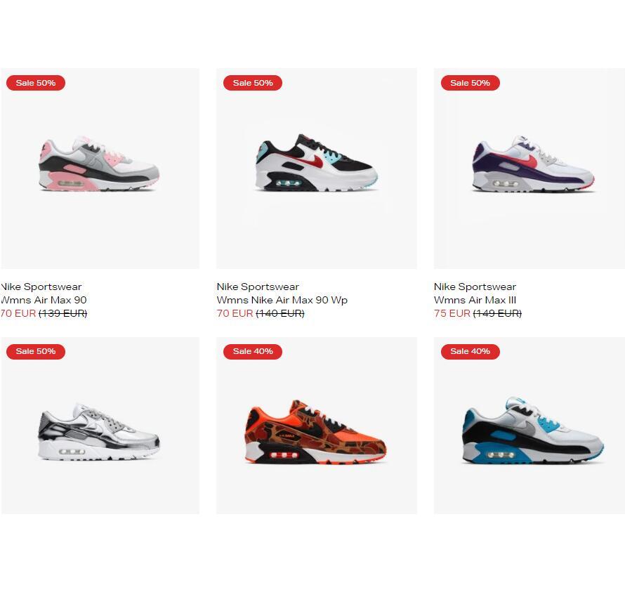Recopilación Nike Air Max 90 a partir de 60 euros