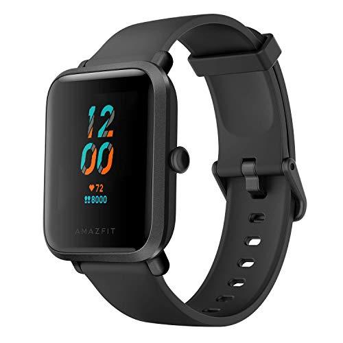Smartwatch AMAZFIT BIP S 5ATM GPS GLONASS - Reloj inteligente con bluetooth y conectividad con Android e iOS - Version Global (Negro)