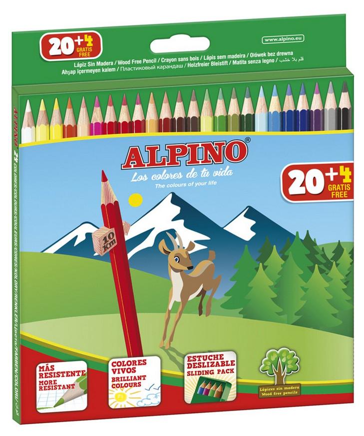 Caja con 24 lápices de colores Alpino por sólo 2€
