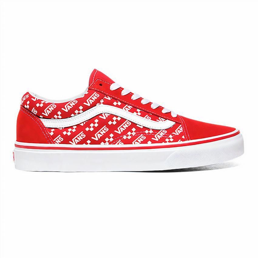 Zapatillas Ua Old Skool - cuero - rojo y blanco