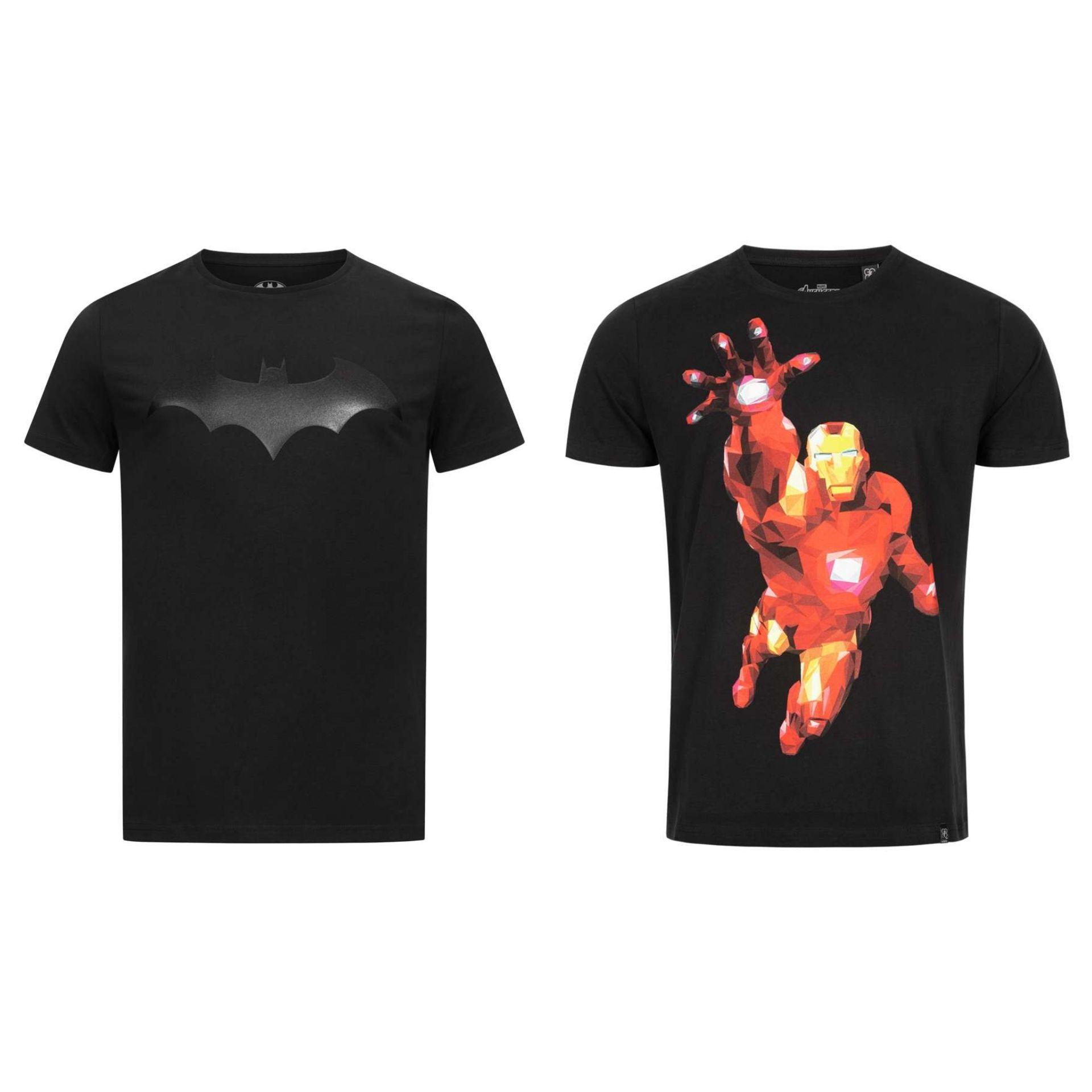 Camiseta GOZOO × Batman/Iron Man