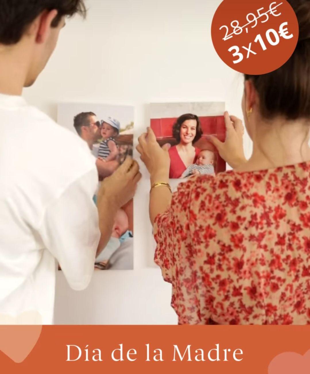 Pack de 3 cuadros adhesivos por tan solo 10€ para el día de la Madre