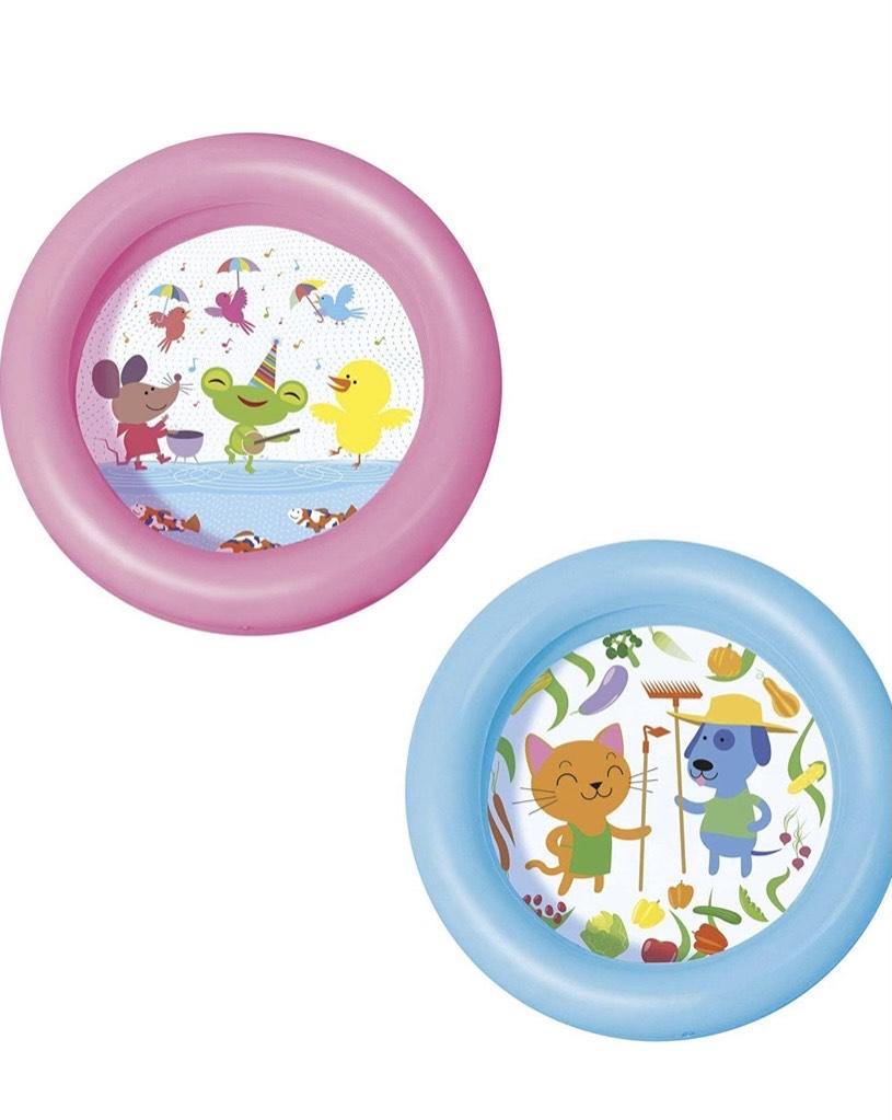 Bestway 51061 - Piscina Hinchable Infantil Kiddie 2-Anillos 61x15 cm
