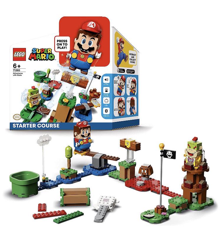 LEGO 71360 Super Mario Pack Inicial: Aventuras con Mario, Set Interactivo con Figuras