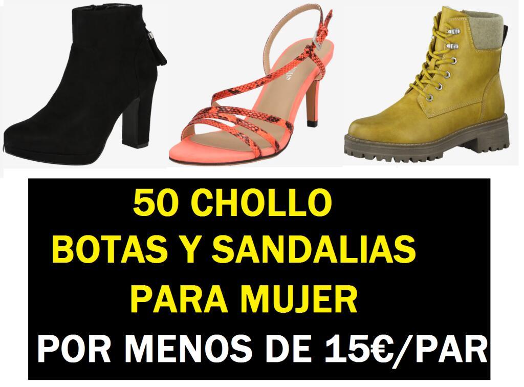 50 CHOLLO Botas y Sandalias para Mujer por Menos de 15€/Par