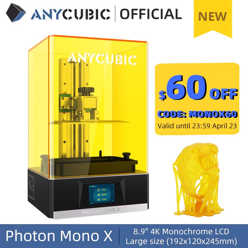 ANYCUBIC MONO X - Impresora 3D Resina Gran Formato