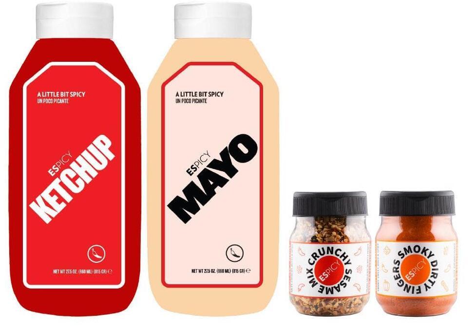 Pack Espicy: Salsa Mayo + Ketchup + Crunchy Sesame + Smoky Dirty