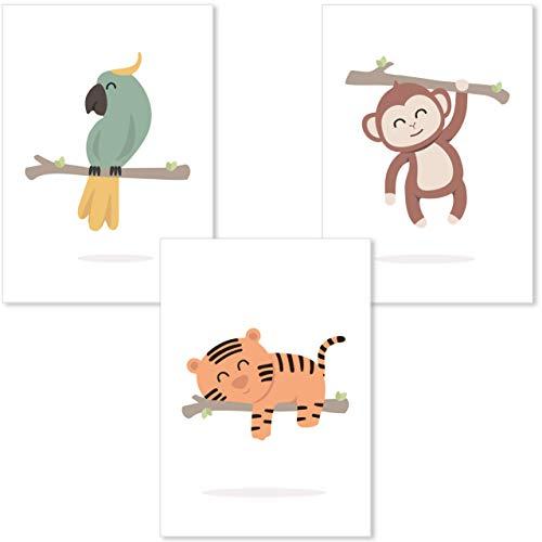 Cuadros infantiles, Set 3 laminas infantiles para decorar habitación bebes