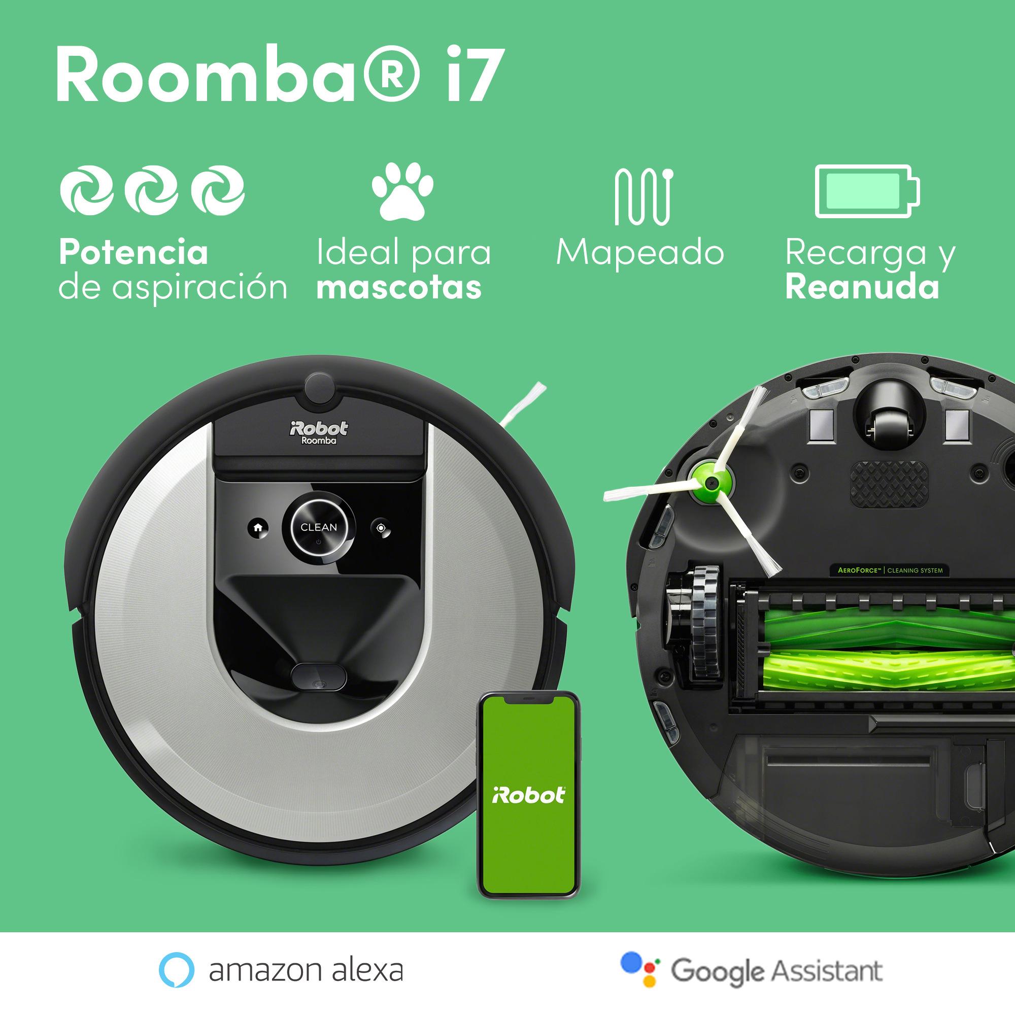 Roomba i7 - Ideal para personalizar las zonas de limpieza - Autonomia inicial 75 min