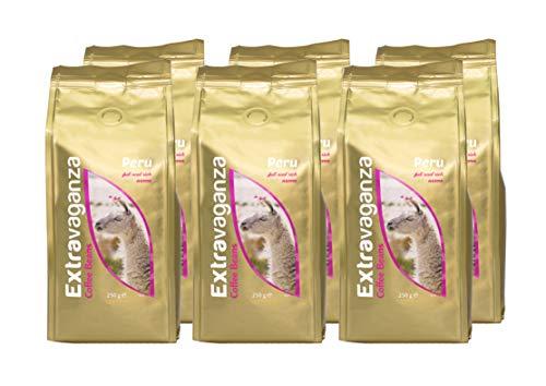 3 Kg Extravaganza - Café de Perú en grano, 250 g (lote de 12)