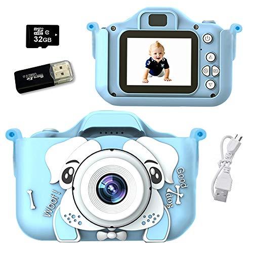 Cámara para Niños, Infantil de Fotos Digital con 32GB Tarjeta de Memoria y , Videocámaras