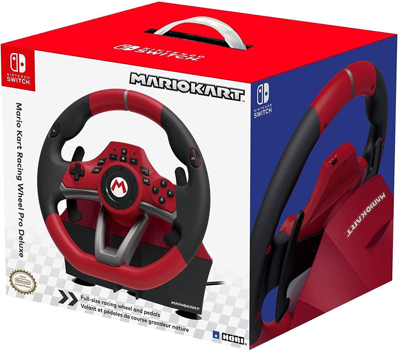 Volante + Pedales Hori Mario Kart Pro Deluxe para Nintendo Switch y PC
