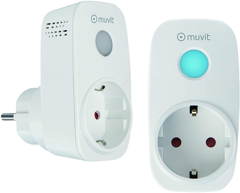 Pack 2 Enchufes Inteligentes Muvit Alexa y Google Home