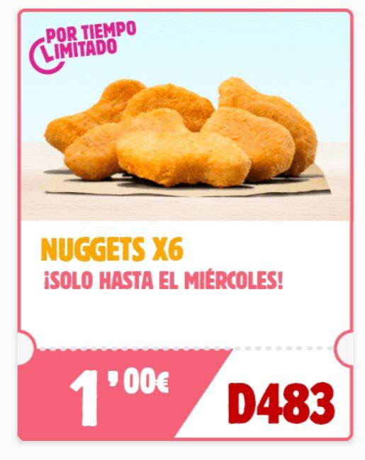 6 Nuggets por 1€