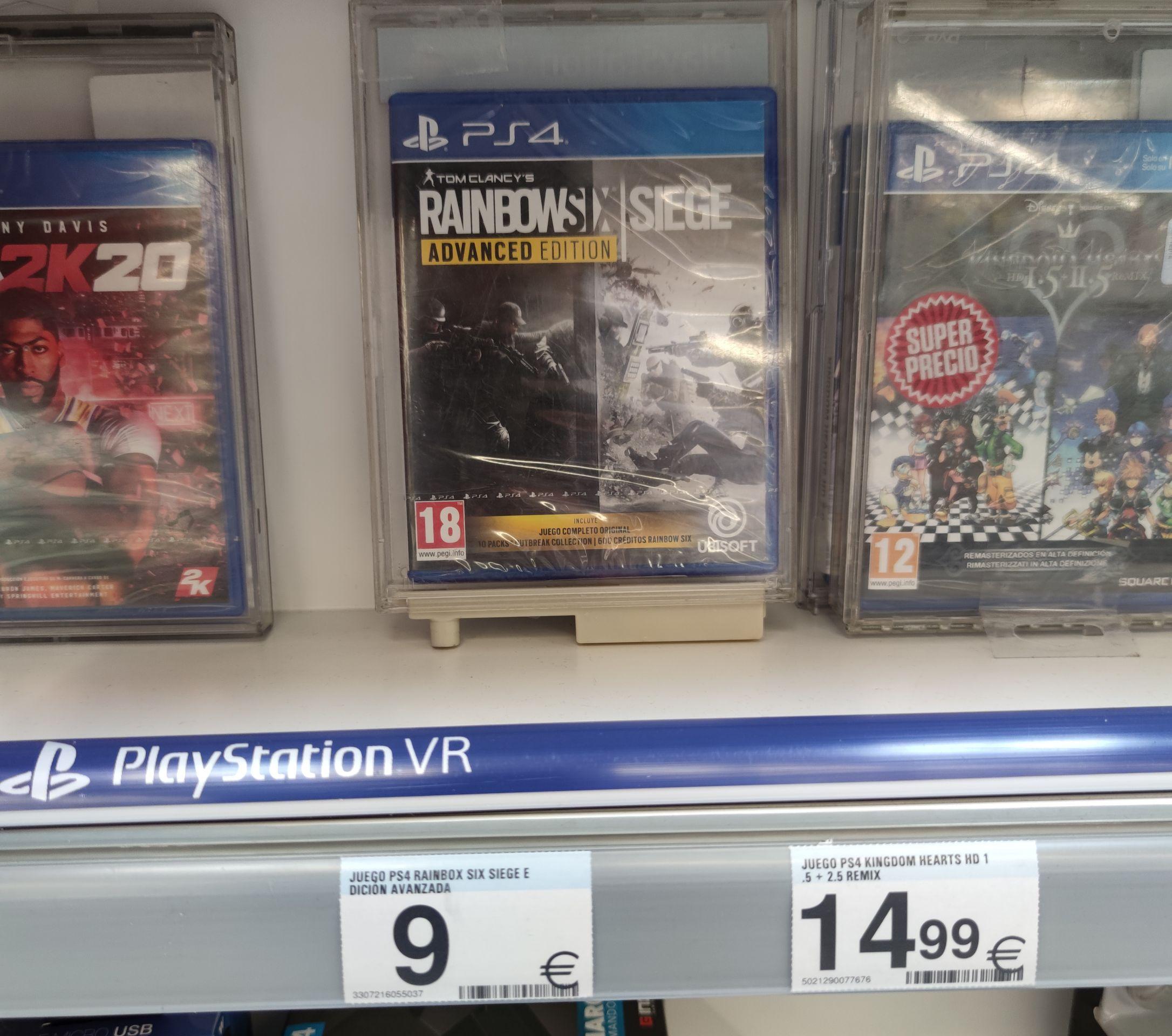 Rainbow Six Siege Advanced Edition para PS4 - Carrefour (9'95€ en GAME)
