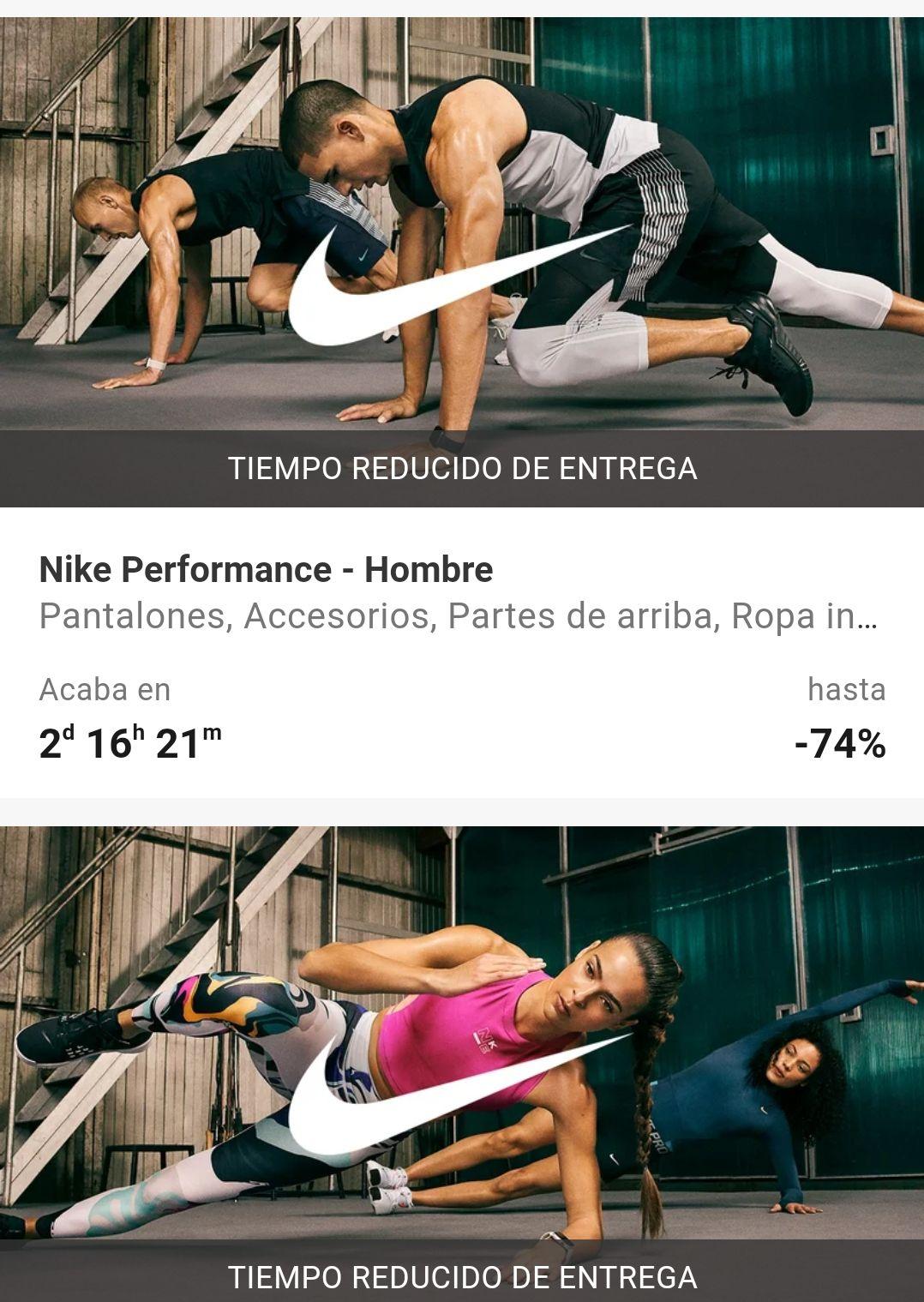 Hasta 74% en Nike en Zalando prive con envío gratis a partir de 50€