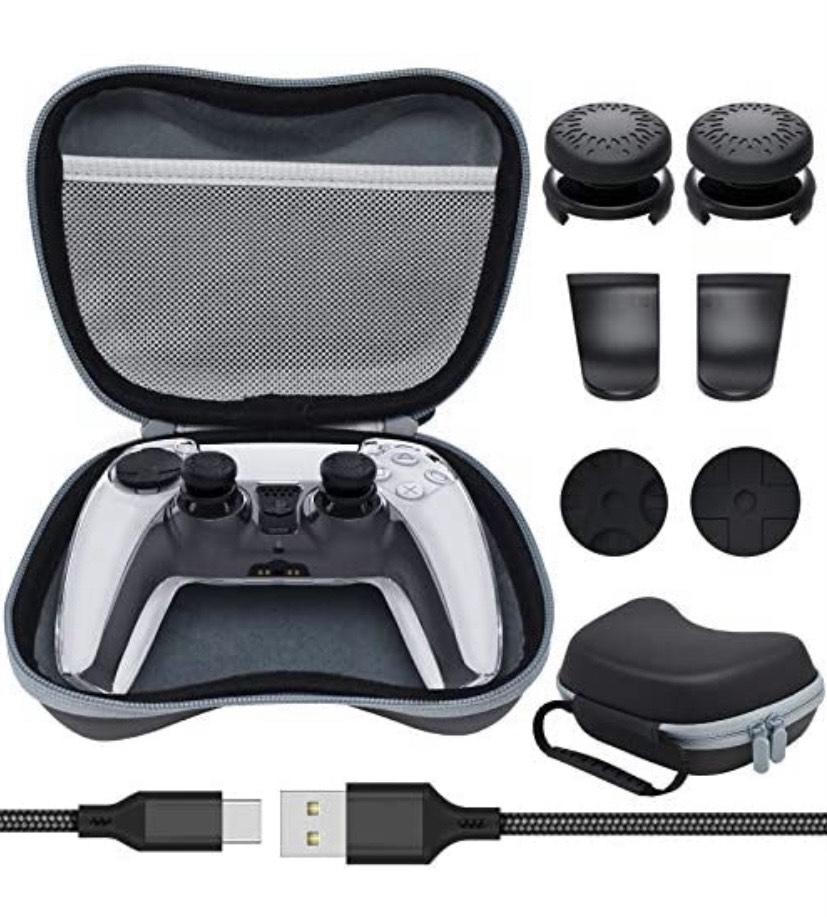 Kit de funda de transporte y accesorios para controladores de PS5